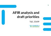 PFEM Infra WG – AFIR – T&E 2309